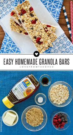 Easy Homemade Granola Bar Recipe