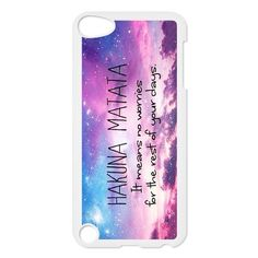 Nebula Hakuna Matata Protective Hard Shell PC Back Fits Cover Case for iPod Touch 5, 5G (5th Generation) Cases for iPod 5 http://www.amazon.com/dp/B00LZMLFSS/ref=cm_sw_r_pi_dp_lQlAub0JV1A8Y