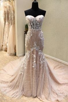 Buy Gorgeous Sweetheart Mermaid Lace Appliqued Wedding Dresses, Strapless Bridal Dress in uk.Rock one of the season's hottest looks in a burgundy homecoming dress or choose a timeless classic little black dress. Long Wedding Dresses, Elegant Wedding Dress, Prom Party Dresses, Cheap Wedding Dress, Bridal Dresses, Wedding Gowns, Bridesmaid Dresses, Lace Wedding, Dress Prom