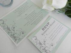 Custom Silver and Spearmint Swirl Wedding by MyMemorableDesigns, $3.30