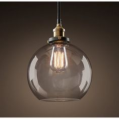 Maisie 1-light 8-inch Adjustable Height Edison Pendant with Bulb