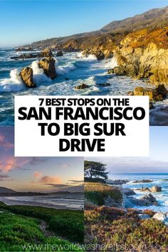 Big Sur California, Carmel By The Sea, Pacific Coast Highway, Amazing Adventures, Lake Tahoe, Travel Usa, Places To See, Travel Inspiration, San Francisco