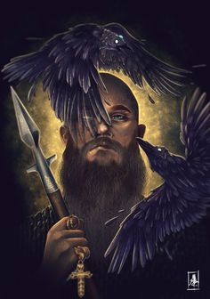 Ragnar Lothbrok, Vikings, Alicia Mathieu on ArtStation Vikings Tv Series, Vikings Tv Show, Vikings Ragnar, Viking Life, Viking Warrior, Viking Wallpaper, Vikings Season 4, Thor, Viking Series