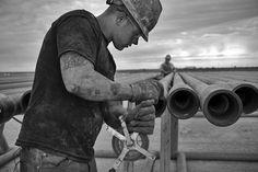 Oil Fields, West Texas (by matt-powers-photos) Hard Working Man, Working Class, Oilfield Man, Oilfield Trash, Hot Country Boys, Power Photos, Oil Refinery, Muscle Bear, Ideal Man