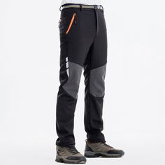 Freiesoldaten Mens Quick Dry Pants Lightweight Hiking Cycling Stretch Trousers with Belt
