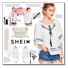 """SHEIN"" by armina-saric ❤ liked on Polyvore featuring Maybelline, Balmain, Kevyn Aucoin and Bobbi Brown Cosmetics"