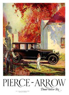 Sketchbook historic cars Pictures: PIERCE ARROW - Dual Valve Six