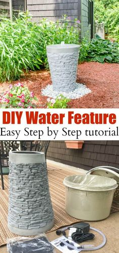 How to Install a Water Feature {our garden water fountain}