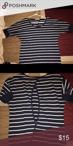 Maurices top Blue with white stripes top from Maurices. size Medium Maurices Sweaters Crew & Scoop Necks