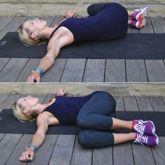 Lying Spinal Twist Benefits: Lengthens and realigns the spine Increases flexibility in the hips and low back Stimulates the digestive system