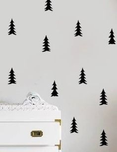 woodland wall decal woodland nursery forest decal by xoxowalls
