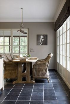 Belgian Style dining room...