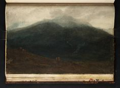Joseph Mallord William Turner (1775–1851) 'A Dark Mountain-Side with a Stream Running Down it (Cader Idris?)', 1798, Graphite and watercolour on paper