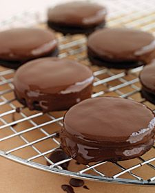 "For the cookie swap. This recipe for chocolate mint sandwiches from ""Martha Stewart's Cookies."""