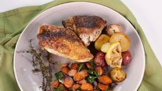 Mario Batali's Pan Roasted  Chicken with Potatoes and Carrots