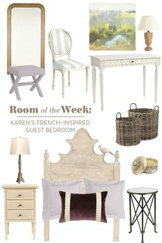 Decorating ideas for a French-inspired guest bedroom