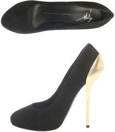 Giuseppe Znotti ~ Gold Metal Heel Shoes