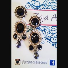 #new #handmadeaccesories #earrings By #zojaaccesories #fashion #moda #mujer #instablogger #women #mujer #accesorios #aretes #black&silver