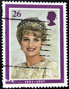 Diana, Princess of Wales Commemoration Stamp Wearing Tiara, 1991 (photo by Lord Snowdon)