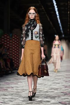 Woman's fashion | Milan fashion week , bow tie • Gucci by Alessandro Michele MFW15
