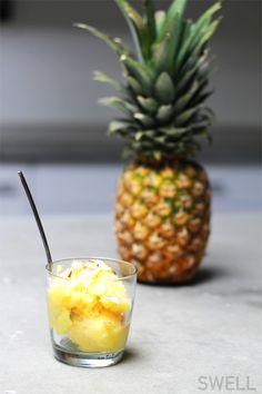 SWELL Eats: One Ingredient Pineapple Sorbet