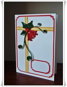 My first Christmas quilling cards