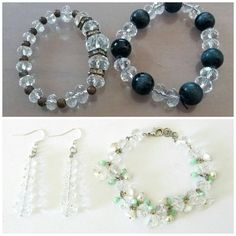 How to recycle old jewelry: a special thanks to who gave me her jewelry, this is a great example of how unused bracelets can be turned into two new accessories! #recycled #upcycled #jewelry #bracelet #earrings