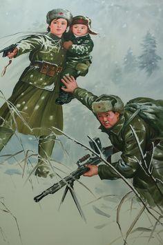 Little Kim Jong-il in Battle