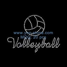 Most Populars Volleyball Left Chest Rhinestone Heat Transfer Designs