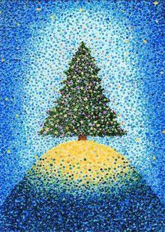pointillism first grade Marker Kunst, Marker Art, Art Drawings For Kids, Art For Kids, Christmas Art Projects, Ecole Art, Art Curriculum, Winter Art, Art Lesson Plans