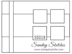 Sunday Sketches SS019 Sealed with Love Stamp Set by Stampin' Up! - Stamps To Die For