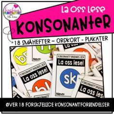 La oss lese - konsonantforbindelser - Teaching Funtastic Comic Books, Teaching, Education, Cover, Grammar, Learning, Comic Book, Comics, Educational Illustrations