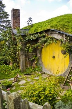 For my dream house built into the side of a hill ... this would be my laundry door