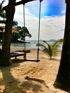 Koh Chang, beach scene, Thailand. I sat here two weeks ago....