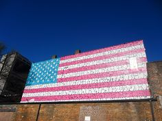 downtown Atlanta street art US flag #atlanta