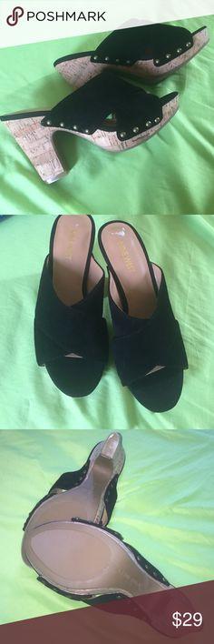 Nine West sandals with heels NWOB Nine West Black High Heel Sandals. New. Never worn. Nine West Shoes Heels