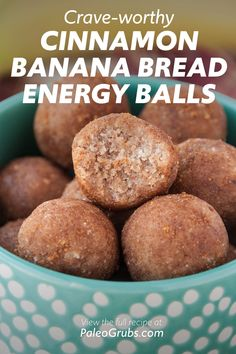 These easy cinnamon banana bread energy balls are the best! # Food and Drink health Crave-worthy Cinnamon Banana Bread Energy Balls Keto Desserts, Dessert Recipes, Recipes Dinner, Easy Bread Recipes, Keto Recipes, Cooking Recipes, Cinnamon Banana Bread, Whole30, Paleo Grubs