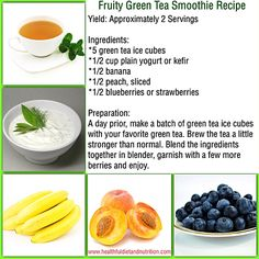Fruity Green Tea Smoothie Recipe