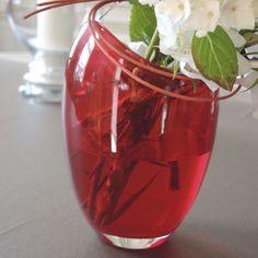 Vase verre Kurt rouge ht.18 cm