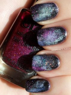 Adventures In Acetone: Galaxy Nail Tutorial