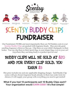 Scentsy Buddy Clips Fundraiser Letter All Buddy Clip Fundraiser Documents are my work. https://erinmariesor.scentsy.us