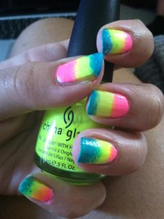 my gradient nails!
