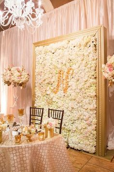 Sweetheart Table ideas.  If you are having a Sweetheart table at your Wedding Reception these different table decoration themes, will give you some great inspiration