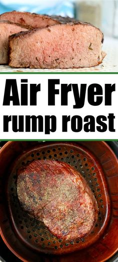 Air fryer rump roast comes out as tender as you'd like it with a crispy dry rub on the outside. Well done, medium or rare in no time at all. #rumproast #airfryerroast #airfryerrumproast Best Dinner Recipes, Amazing Recipes, Brunch Recipes, Delicious Dinner Recipes, Yummy Appetizers, Roast Recipes, Crockpot Recipes, Slow Cook Roast, Easy Snacks