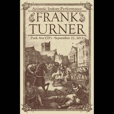 Frank/turner/posters - Google Search
