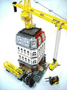 Posted Image Lego Technic Truck, Lego Truck, Lego Crane, Legos, Lego Lego, Lego Moc, Lego Village, Construction Lego, Lego Kits