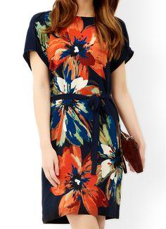 MONSOON Ramona Silk Front Printed Dress.  UK18 EUR46  MRRP: £89.00GBP - AVI Price: £59.00GBP