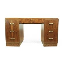 French Art Deco Desk, Walnut, c1930
