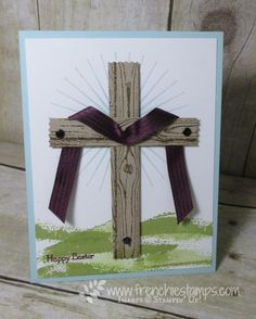 Stamp & Scrap with Frenchie: Easter Cross with Hardwood stamp