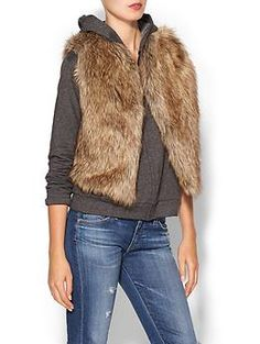 JET by John Eshaya Faux Fur Hoodie | Piperlime
